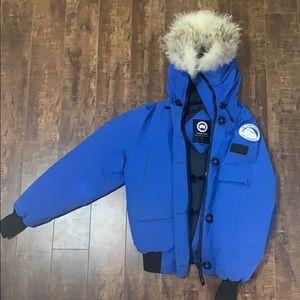 Royal blue Canada Goose jacket